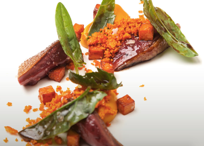 Photo Credit: Burnt.com Anjou Pigeon, Sweet Potato, Sorrel