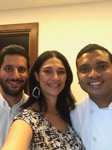 My husband and I with Chef Samih
