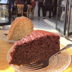 Chocolate-Beetroot Cake and Cardomom Cake from Rumi Cafe